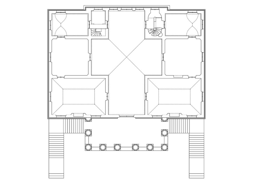 Planimetria Casa Con Misure 3. interno – gli spazi – la malcontenta – villa foscari